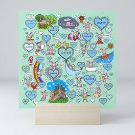 Do what makes you happy -Turquoise Mini Art Print
