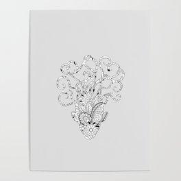floral mind Poster