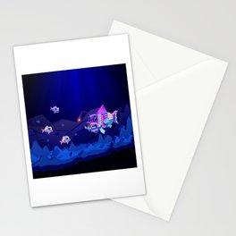 Anglerfish, lie and bioluminescence Stationery Cards