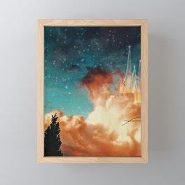 Seeing a City in the Clouds Framed Mini Art Print