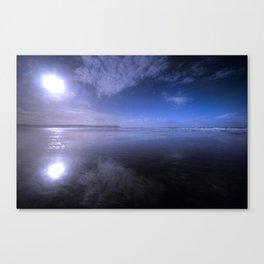 Woolacombe Beach with blue  Canvas Print