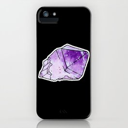 Amethyst Crystal iPhone Case