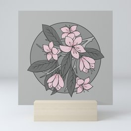 Sakura Branch - Ballet Slipper + Neutral Grey Mini Art Print