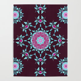 red berry pattern Poster