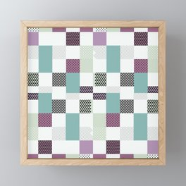 Modern Boho Geo - Pastel Geometric Abstract Framed Mini Art Print