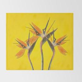 strelitzia - Bird of Paradise Flowers II Throw Blanket