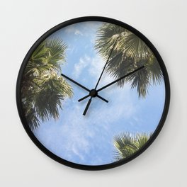 The sun and the palms Wall Clock