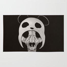 Panda Skull Rug