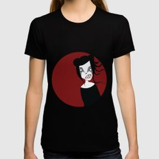 Under The Red Moon Black Womens Fitted Tee X-LARGE