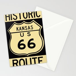 Historic Route 66 sign in Kansas. Stationery Cards