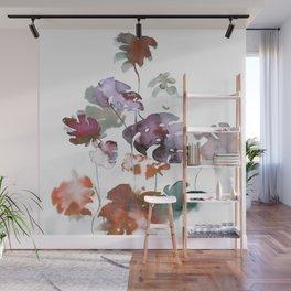 Dry Tropical Leaves Watercolor Wall Mural