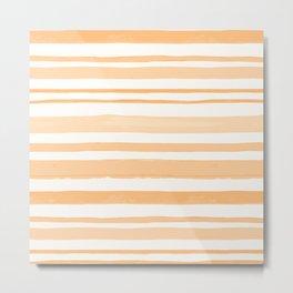 Orange Lines #orange Metal Print