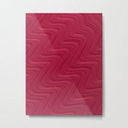 Crimson Waves Metal Print
