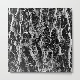 Lava cascade in black and white Metal Print