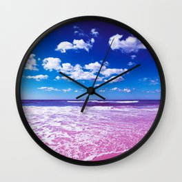 Cobalt Beach Wall Clock