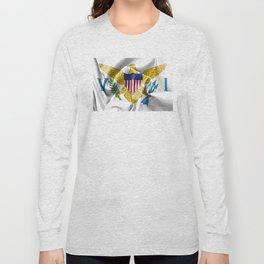United States Virgin Islands Flag Long Sleeve T-shirt