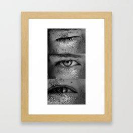 3X eye Framed Art Print