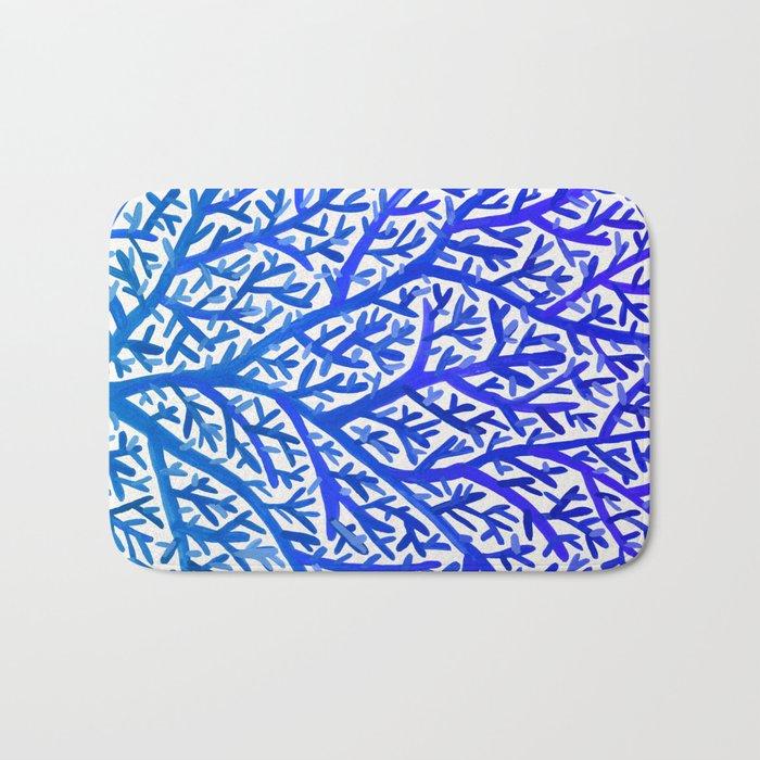 Fan Coral – Blue Ombré Bath Mat