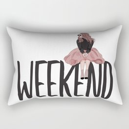 Waiting for weekend Rectangular Pillow