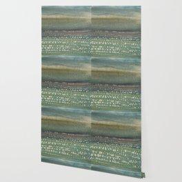 Landscape Dots- Blue Wallpaper