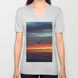 Black Gull by nite Unisex V-Neck