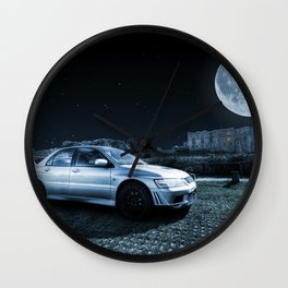 Evo 7 at the Castle Wall Clock