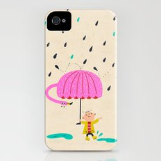 one of the many uses of a flamingo - umbrella Slim Case iPhone (4, 4s)