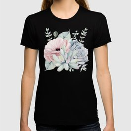 Pretty Succulents on Marble by Nature Magick T-shirt