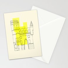 yellow castle Stationery Cards