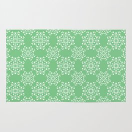 Sage Green Spring Lace Rug