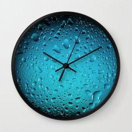 Stylish Cool Blue water drops Wall Clock