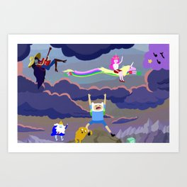AT character spread Art Print