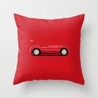 ferrari Throw Pillows featuring Ferrari 166 by Mark Rogan