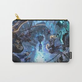 Worlds 2017 Promo Garen Wukong Ashe Ziggs Lee Sin Thresh Wallpaper Background Official Art Artwork Carry-All Pouch