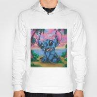 stitch Hoodies featuring Stitch by spiderdave7