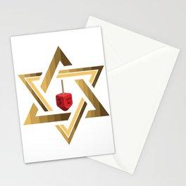 Star Of David Jewish Dreidel Stationery Cards