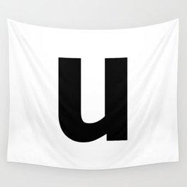 letter U (Black & White) Wall Tapestry