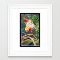 gnome Framed Art Prints featuring Gnome by Angelandspot