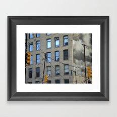 nyc clouds Framed Art Print