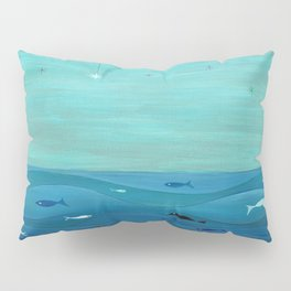 Over the waves Pillow Sham