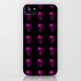 Neon Skull Pattern iPhone Case