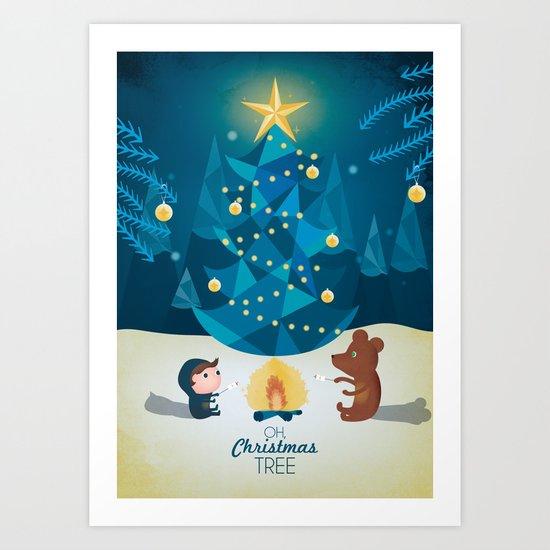 Oh Christmas tree Art Print