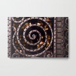 Elegant Iron Screen Detail Metal Print