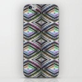 Bright symmetrical rhombus pattern iPhone Skin