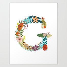 Monogram Letter G Art Print