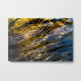 River Ripples in Copper Gold and Brown Metal Print