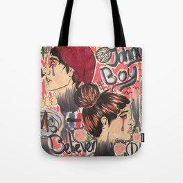 Johnny Boy and Miss Believer Tote Bag