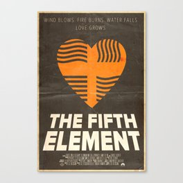 Me Protect You - The Fifth Element Poster Canvas Print
