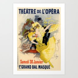 Belle Epoque vintage poster, French Theater, Theatre de L'Opera Art Print