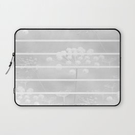 White Plant On A Grey Background #decor #society6 Laptop Sleeve